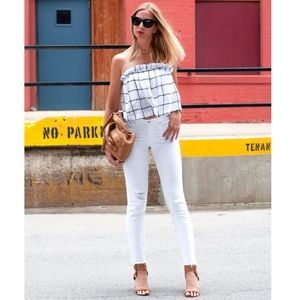 Madewell straight alley cut edge jeans